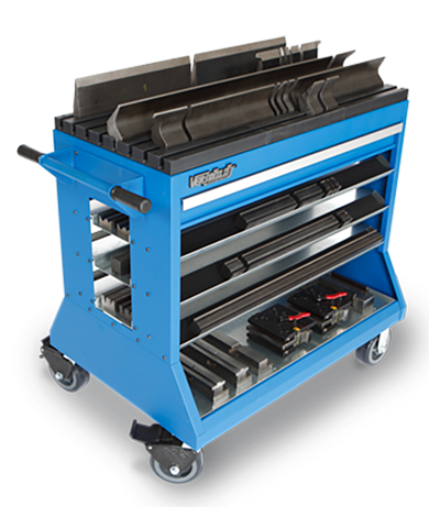 Change over carts for sheet metal fabricators by Professional Tool Storage