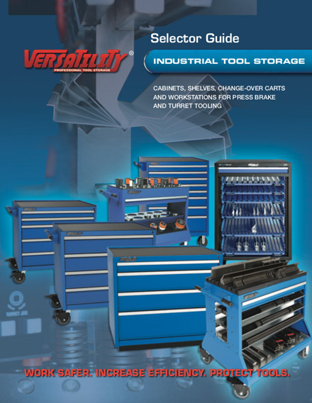 Versatility® Industrial Tooling Selector Guide | Cabinets, Change Over Carts, Workstations