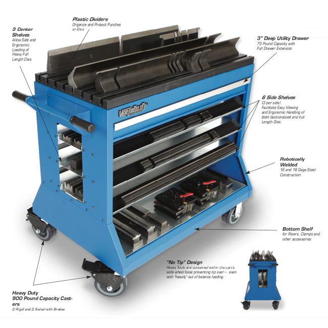 Versatility® VT-36600 Change Over Cart for American Tooling Style