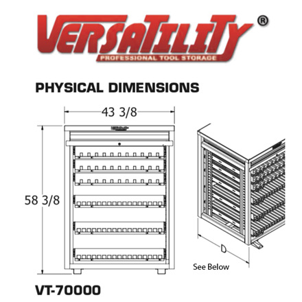 Cabinet Dimensions | iTool Visual Press Brake Storage System | Versatility