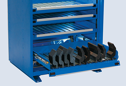 iTool® Visual Press Brake Tool Storage System- Drawers with Flip Down Fronts and Lock Out | Versatility